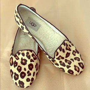 Ugg leopard calf hair flats